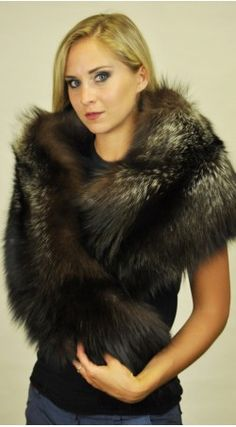 Real fur shawls can brighten up your mood even the dullest of days. #furshawl #realfur #furaccessories