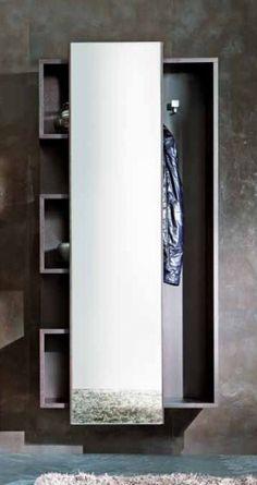 Mobile da ingresso con appendiabiti e specchio futura - Serigrafia su specchio ...