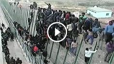 Immigration is an issue in every industrialized country with less-than-developed neighbors, and this is the reality of what happens when an overwhelming number of people meet an a scalable obstacle.  While this video takes place in Morocco, it's a stark reminder of what can and does happen in