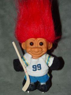 "Troll Doll 4 1/2"" Russ Hockey Player Red Hair by creationsbycaradonna on Etsy"