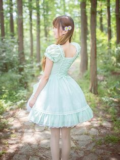 2014 Girl Summer Sweet Lace Short Sleeves Lolita Dress With Bows