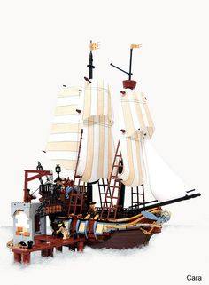 The Flying Piranha  Sail the Pirate Seas on the smartest vessel around. Beware, these sneaky privateers are not the meek merchants they pretend to be. Open the captain's cabin to discover his gold. Reveal the hold where cannons turn to fire out either side of the ship! Then dock at the local port to sell goods claimed from the enemy or take on supplies for the next battle.