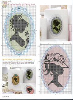 Free cross stitch patterns - Cameos
