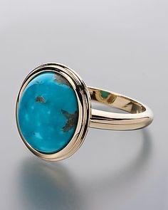 Wunderschöner Goldring mit Türkis von Sogni d´oro #schmuck #jewelry #Edelsteine #sognidoro #sogni #doro #ring