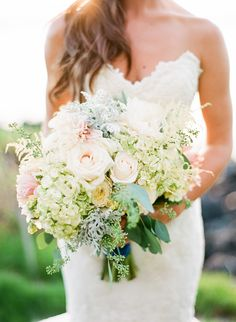 #Bouquet | Maui Destination Wedding at the Sugarman Estate | See the wedding on SMP - http://www.stylemepretty.com/2014/01/23/maui-destination-wedding-at-the-sugarman-estate/