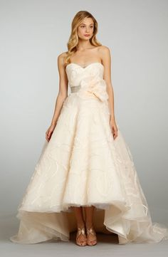 High-low gowns - trending for 2014 - Jim Hjelm Tea Length Wedding Dress with Sweetheart Neckline