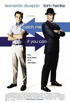 Catch Me If You Can by Frank Abagnale inspired the 2002 film starring Tom Hanks and Leonardo DiCaprio Frank Abagnale, Movies And Series, All Movies, Great Movies, Leonardo Dicaprio, Martin Sheen, Tom Hanks Filme, Love Movie, Movie Tv