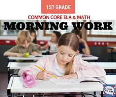 10 months {the entire year} of common core math and ela morning work. Each month's pack has 20 pages of morning work that builds on the prior month's skills. This is exactly what you need to keep kids busy while practicing skills so you can do all that you need to in the a.m. without interruption.