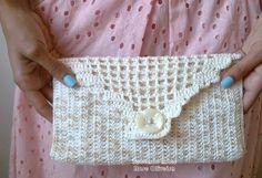 Tecendo Artes em Crochet: Carteira Pérola - Linda e Clássica! grafico