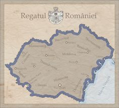 Romania Mare by fennomanic on DeviantArt Michael I Of Romania, Romanian Royal Family, Historical Maps, Old Maps, History Facts, Royals, Alternative, Home, World Maps
