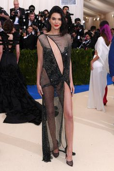 Kendall Jenner's La Perla couture dress leaves little to the imagination, is as bare as her sister Kylie's Atelier Versace number.