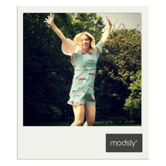azure tunic with geometric flamingo print from MODSLY collection 2015