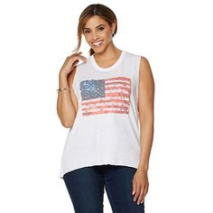 Nations Flag Print Tank