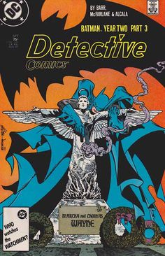 Detective Comics #577. Batman Year Two Pt.3 Todd McFarlane Pencils - Cover Art. Deadly Allies #detectivecomics #batman #toddmcfarlane