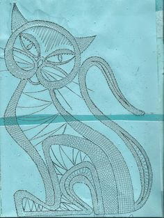 gatos - mdstfrnndz - Picasa Web Album  . This is a design for lace, would make an amazing pattern for appliqué.