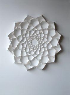 Geometric Paper Sculptures   Matthew Shlian