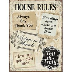 Xavax Dekoschild House Rules, 26 x 35 cm im QUELLE Online Shop