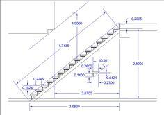 Hasil gambar untuk escalera en l medidas Home Stairs Design, Interior Stairs, House Design, Stair Design, Escalier Art, Escalier Design, Building Stairs, Building A House, Stair Plan