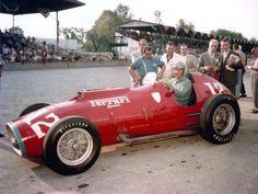 Alberto Ascari on Ferrari 375 Special in Indianapolis in 1952.