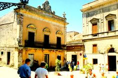 Main Piazza of Erice, one of the oldest cities in the world - was famous for its fertility goddess like Venus