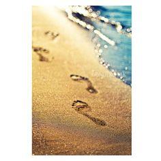 Wall decor  beach decor Footprints in the sand beach  by gonulk #Etsy #HomeDecor #HomeDecorating #decorations  #decor #Art #Photography