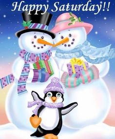 Happy Saturday sister and all,have a nice day, God bless★♥★. Merry Christmas, Christmas Clipart, Vintage Christmas Cards, Christmas Pictures, Christmas Snowman, Christmas And New Year, Winter Christmas, Christmas Time, Christmas Crafts