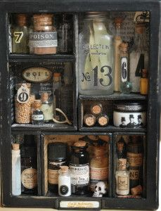 Apothecary Cabinet using Tim Holtz Configurations