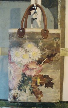 Old painted canvas bags LOVE!!
