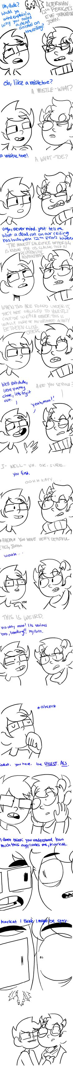 Karkat I might be gay *me in background* You don't say?!