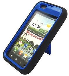 BLACK/BLUE Armor 3 IN 1 High Impact Combo Hard Soft Gel Case Stand for LG Marquee LS 855 (Boost Mobile) - GREAT PROTECTION FOR YOUR VALUABLE PHONE! - http://groovycellphone.com/blackblue-armor-3-in-1-high-impact-combo-hard-soft-gel-case-stand-for-lg-marquee-ls-855-boost-mobile/