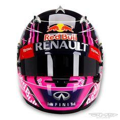 Racing Helmets Garage: Arai S.Vettel Interlagos 2014 by Jens Munser Designs Racing Helmets, F1 Racing, Karting, Enduro, Helmet Paint, Races Outfit, Michael Schumacher, Hard Hats, Biker Chick