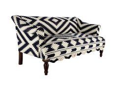 sofá estampado navajo tribal print pattern diseño tendencia trend design decoración decoration miraquechulo