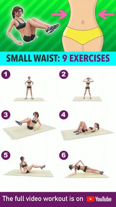 Small Waist Workout, Full Body Gym Workout, Slim Waist Workout, Gym Workout Videos, Gym Workout For Beginners, Fitness Workouts, Butt Workout, Easy Workouts, At Home Workouts