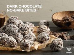 Dark chocolate bites Winter Warmers, Stuffed Mushrooms, Chocolate, Baking, Vegetables, Dark, Food, Bread Making, Patisserie