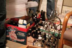 Yes, we don't only age wine, we age beer. Welcome to the beer cellar.