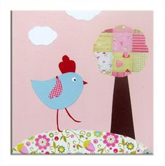 Hen Canvas on Etsy, $23.99