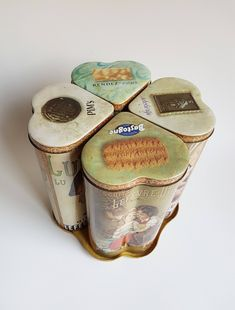 RARE Cookie tins by LU, Lefèvre-Utile. Vintage French biscuits container-tin, Kitchen Retro Vintage biscuit canisters, Old antique tins Vintage Storage, Vintage Tins, French Vintage, Retro Vintage, Tin Containers, Tea Tins, Art Nouveau, Art Deco, Old Antiques