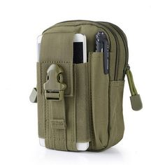 471731b12c ... CQCRain Cover  NoModel Number  Outdoor Camping Climbing BagTactical  Military Molle Hip Waist Belt Wallet Pouch Purse Phone Case for iPhone 7 for  Samsung