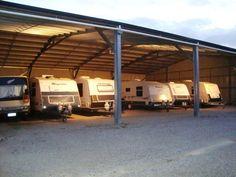 Undercover for the off-season. Undercover, Caravan, Pergola, Outdoor Structures, Storage, Purse Storage, Outdoor Pergola, Larger, Motorhome