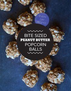 Bite Sized Peanut Butter Popcorn Balls