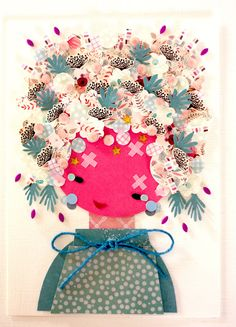Paper Doll - 030. Original Paper Collage.
