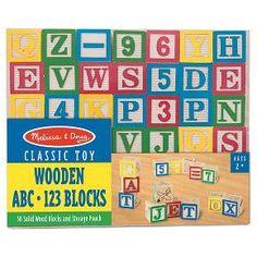 Melissa & Doug® Wooden ABC - 123 Blocks : Target