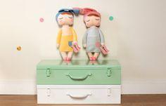 Mint Treasure Chest toy box kids room decor nursery decor
