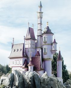 Eleonore Bridge - Beauty and the beast pink magical castle at disneyland paris