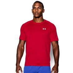 Men's Under Armour Tech Tee, Size: Medium, Red