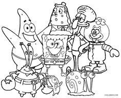 Printable Spongebob Picture Free Printable Coloring Page Spongebob