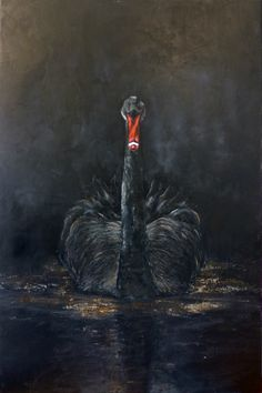 Judith, black swan. Painting artist at Art Studio Eduard Moes