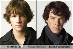 Jared Padalecki Totally Looks Like Benedict Cumberbatch bahahaha i didnt know where to pin this  I cant  xd
