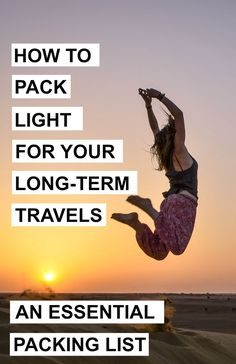 The Ultimate And Essential Packing List For Your Long-term Travels  - A World to Travel