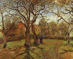 Camille Pissarro:Chestnut Trees, Louveciennes, Spring